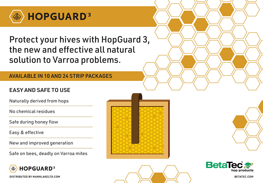 HopGuard 3 - Safe for Bees - Deadly against Varroa Mites